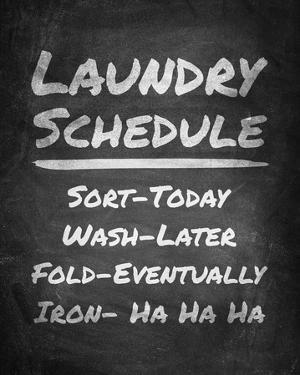 Laundry Schedule Chalkboard by Color Me Happy