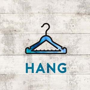 Laundry Sign White Wood Background - Hang by Color Me Happy