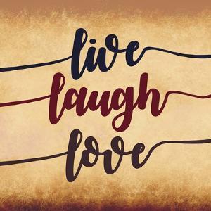 Live Laugh Love-Aged Script by Color Me Happy