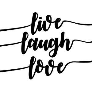 Live Laugh Love-Script by Color Me Happy