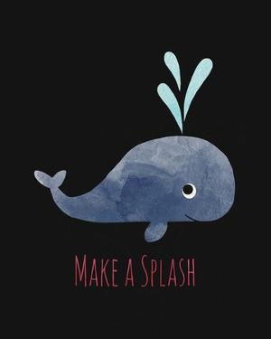 Make a Splash Whale Black by Color Me Happy