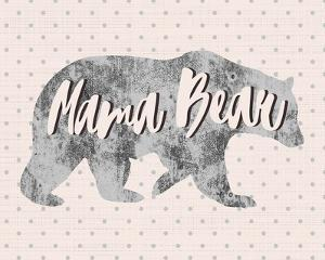 Mama Bear Silhouette by Color Me Happy