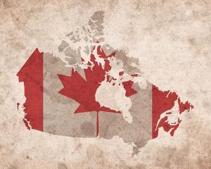 Map with Flag Overlay Canada by Color Me Happy