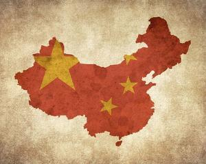 Map with Flag Overlay China by Color Me Happy