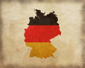 Map with Flag Overlay Germany by Color Me Happy