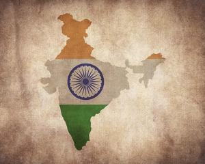 Map with Flag Overlay India by Color Me Happy