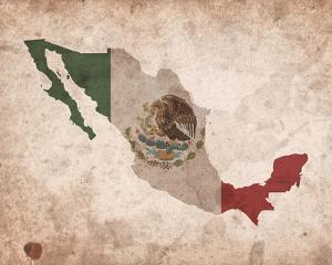 Map with Flag Overlay Mexico by Color Me Happy