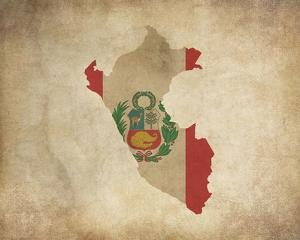 Map with Flag Overlay Peru by Color Me Happy