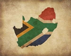 Map with Flag Overlay South Africa by Color Me Happy