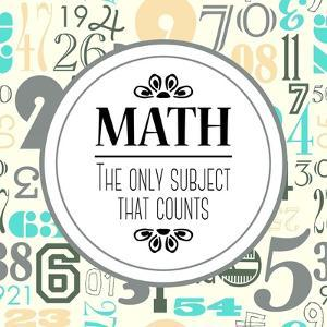 Math The Only Subject That Counts Gray by Color Me Happy