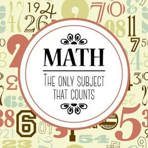 Math The Only Subject That Counts Red by Color Me Happy