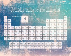 Periodic Table Blue Grunge Background by Color Me Happy