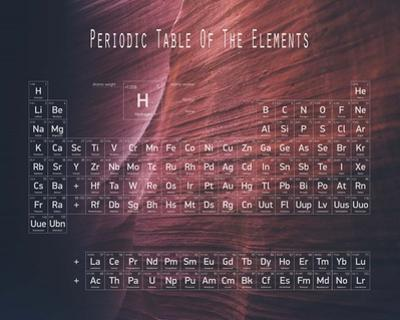 Periodic Table Canyon Wall by Color Me Happy