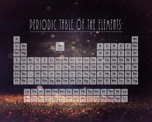 Periodic Table Gold Dust - Purple by Color Me Happy