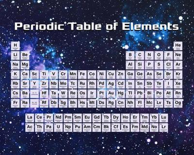 Periodic Table Of Elements Space Theme by Color Me Happy