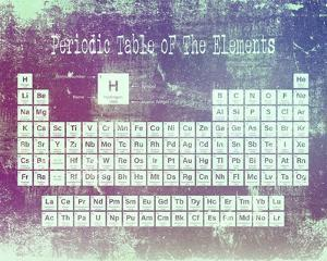 Periodic Table Purple Grunge Background by Color Me Happy