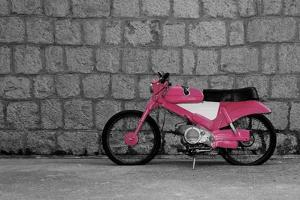 Pop of Color Pink Motorcycle by Color Me Happy