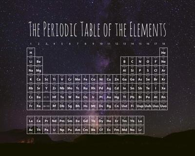 The Periodic Table Of The Elements Night Sky Purple by Color Me Happy