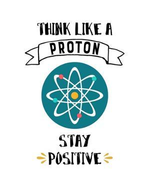 Think Like A Proton White by Color Me Happy