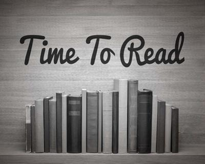 Time To Read - Wood Background Black and White by Color Me Happy