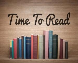 Time To Read - Wood Background Color by Color Me Happy