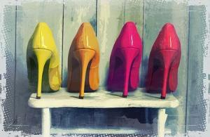 Vintage Fashion Colorful Heels by Color Me Happy