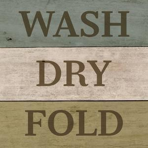 Wash Dry Fold Painted Wood by Color Me Happy