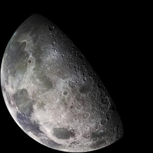 Color Mosaic of the Earth's Moon