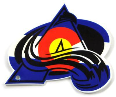 Colorado Avalanche State Colors Logo Steel Magnet