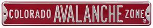 Colorado Avalanche Zone Steel Sign