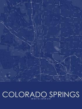 Colorado Springs, United States of America Blue Map