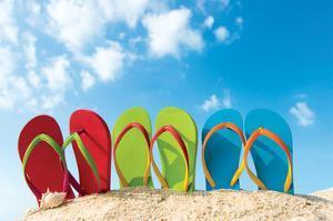 Colorful Flipflops Sunny Beach