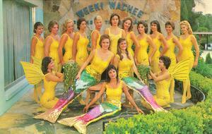 Colorful Mermaids, Retro
