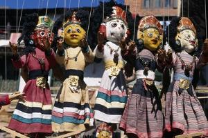 Colorful Puppets at Stall, Durbar Square, Kathmandu, Nepal