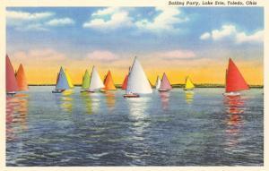 Colorful Sailboats, Lake Erie, Toledo, Ohio