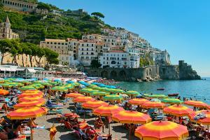 Colorful View of Almafi Coast Italy
