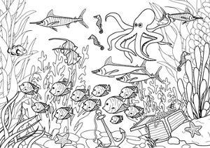 Coloring Page - Submarine