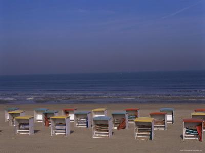 Colourful Beach Huts, Noordwijk, Katwijk, Holland by I Vanderharst