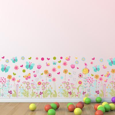 Colourful Butterflies and Flowers Skirting
