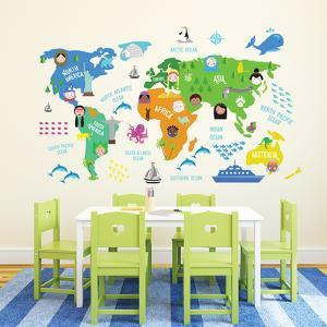 Colourful Nursery World Map