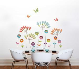 Colourful Pompoms Wall Decal