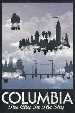 Columbia Retro Travel Poster