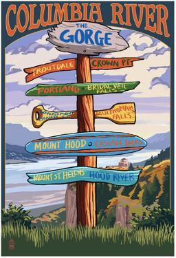 Columbia River Gorge, Oregon Destinations Sign