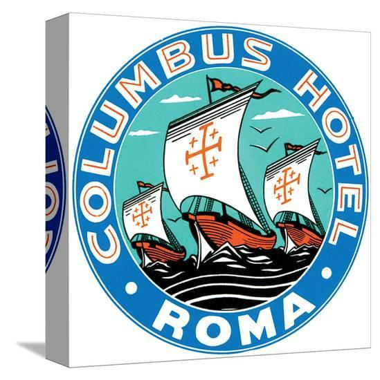 Columbus Hotel, Roma--Stretched Canvas Print