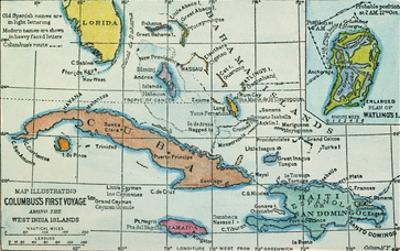 Columbus: West Indies Map