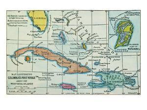 Columbus: West Indies Map