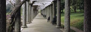 Columns Along a Path in a Garden, Maymont, Richmond, Virginia, USA