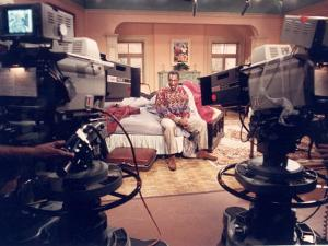"""Comedian Bill Cosby Filming His TV Show """"The Cosby Show"""""""