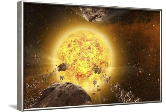 Comets around a Star--Framed Photographic Print