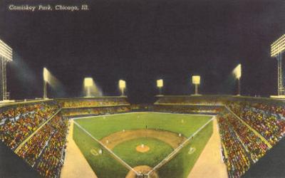Comiskey Park, Night, Chicago, Illinois